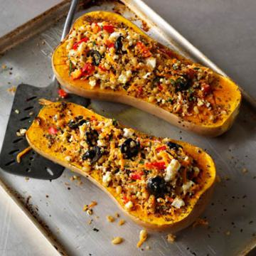 Spinach and Feta stuffed Butternut